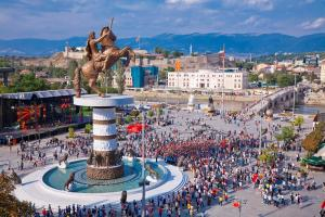 Нова година 2016 в Скопие, Македония (автобусна програма)