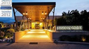 Нова Година: 3 нощувки със закуски и вечери + Празнична вечеря в хотел Poseidon Palace 4*, Олимпийска Ривиера, Гърция! Дете до 13г. безплатно!