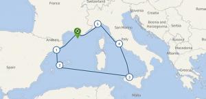 СРЕДИЗЕМНОМОРСКИ КРУИЗ - Испания – Италия – Франция